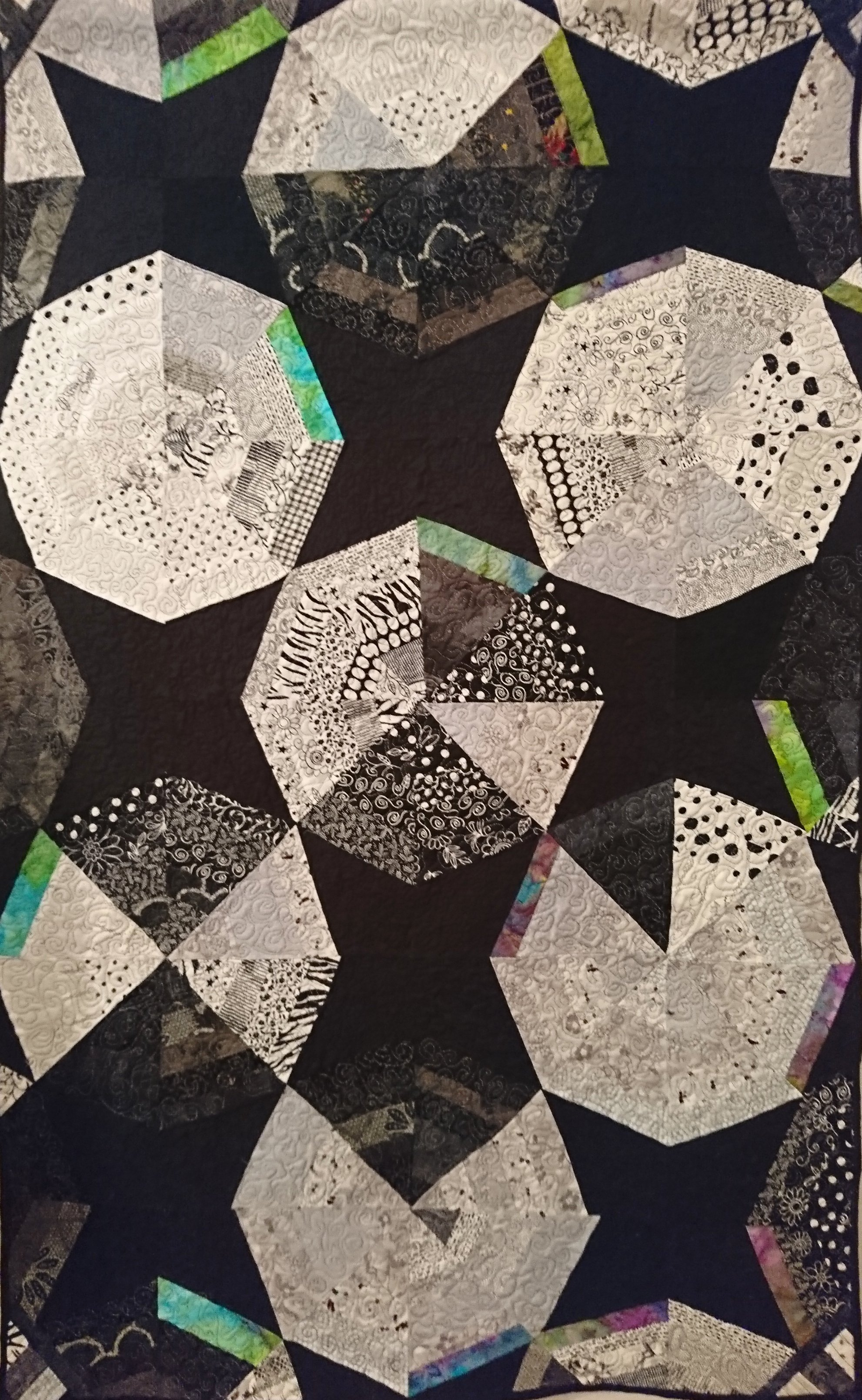 """Black and White Quilt"""