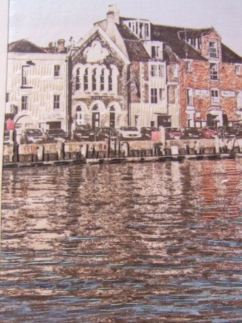 """Weymouth Harbour"" (detail),  full picture  (37cm x 32cm,framed)"
